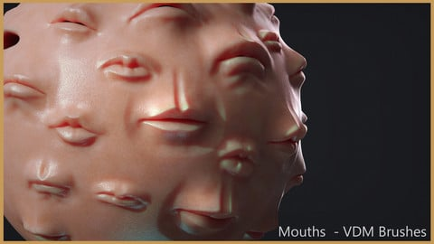 Zbrush - Mouths and Lips - VDM Brushes