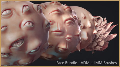 Zbrush - Face IMM + VDM Bundle