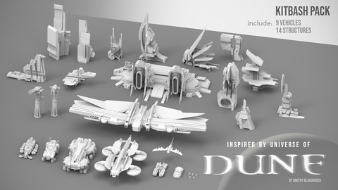 Dune. Kitbash Pack