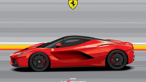 FERRARI LAFERRARI/Digital File Vector