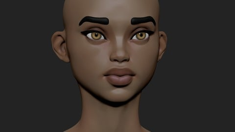 female head Stylized4
