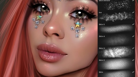 Sale 20% : Procreate - Skin Details set