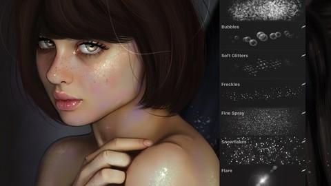 Procreate - Glitter & Texture set