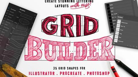 Grid Builder - Layout Composer - Procreate Brush Pack