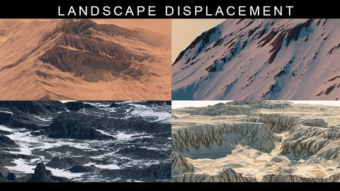 13 Landscapes Displacement maps