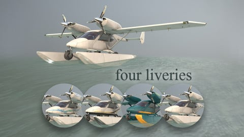 Accord-201 Floatsplane with four liveries 3D Model Collection