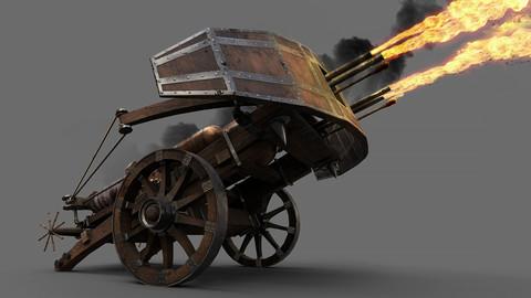 Medieval Ballista flamethrower