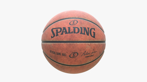 Dirty Spalding Basketball Ball