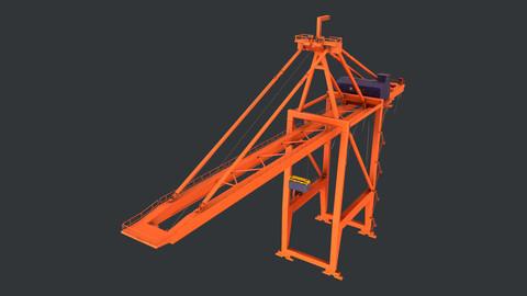 PBR Quayside Container Crane Version 1 - Orange