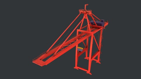 PBR Quayside Container Crane Version 1 - Red