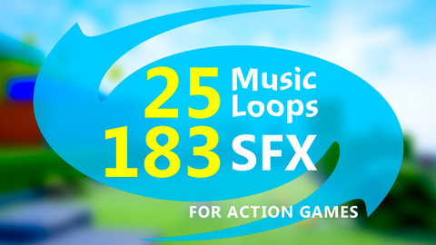 Music Loops & SFX for Action Games, with Source Tracks, Pack #1