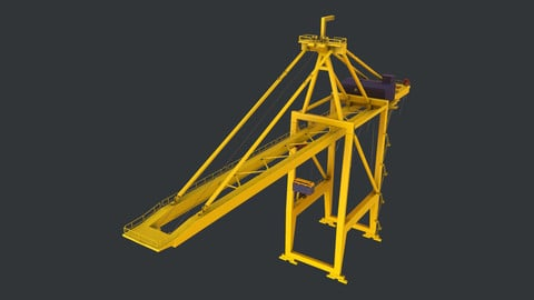 PBR Quayside Container Crane Version 1 - Yellow Light
