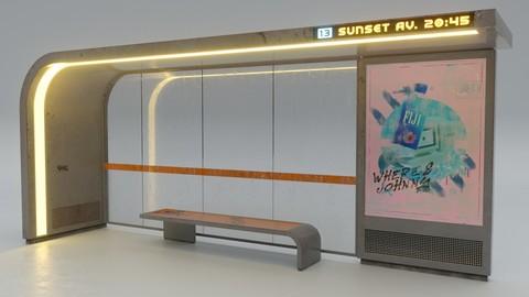 Cyberpunk Bus Shelter