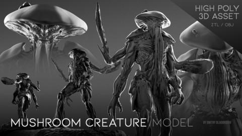 """Mushroom Creature"" model"