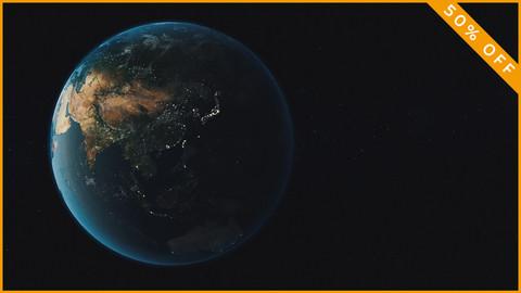 High Realistic Earth 3D Model