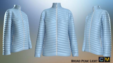 Broad Peak Light Jacket ,Marvelous designer, Clo3d