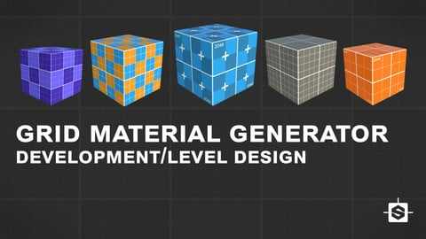 Grid material for development/level design - Substance Designer