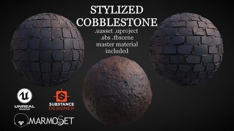 Stylized Cobblestone Material Pack