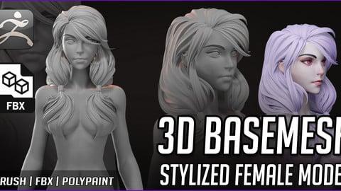 Basemesh Stylized Female