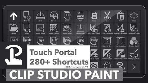 280+ Clip Studio Paint Shortcuts for Touch Portal + 706 Icons