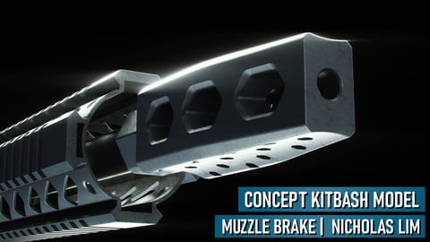Rifle Muzzle Brake Kitbash Model (Sample)