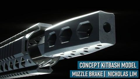 Rifle Muzzle Brake Kitbash Model (Sample)