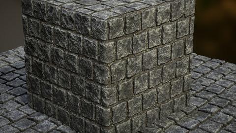 Cobblestone Pavement Substance .sbsar .sbs .png