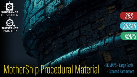 MotherShip A - Procedural Material