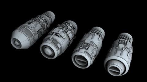 Ship Engine Pack Part IV 3D model