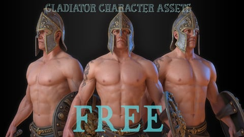 Gladiator character model textured