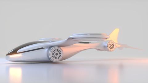 Futuristic Drone B 1