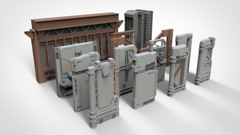 sci-fi Architecture kitbash 18