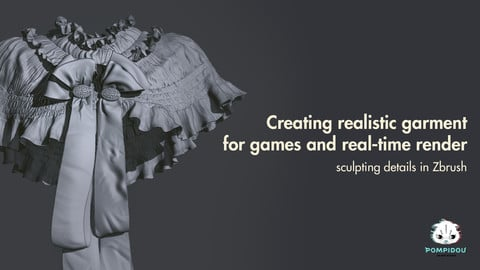Sculpting realistic garment in Zbrush for games & realtime render.