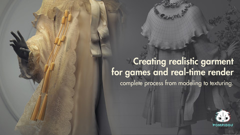 Creating realistic garment in  for games & realtime render. Complete process from modelling to texturing