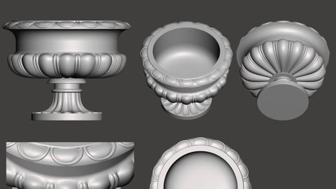Decorative vase - 3d model for CNC - DecorativeVase003