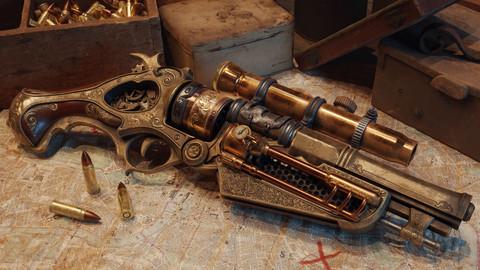 Steampunk Gun - Queen's Tender