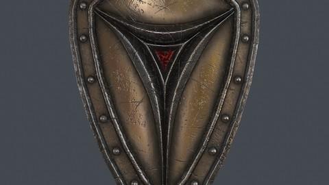 Fantasy shield 6 3d model