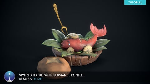Bob for Supper | Stylized Texturing in Substance Painter | Milan De Laet