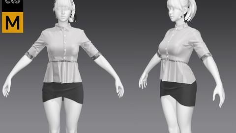 Women Working Suit/marvelous designer/business suit /female suit/skirt/blouse