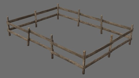 Wooden Fence 1A