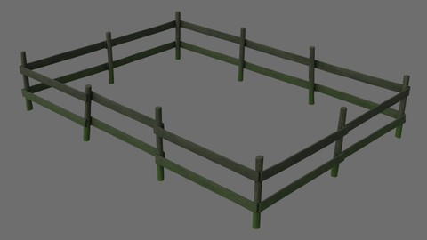 Wooden Fence 1B