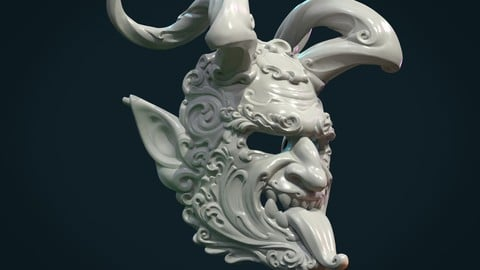 Demon Satyr Mask