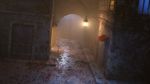 LookDev - Alley Lighting and Rendering