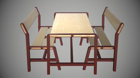 IKEA YPPERLIG Children's bench, beech, dark red, 65x35 cm