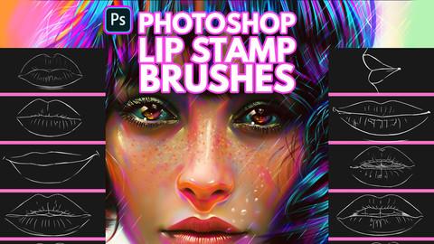 Lip Brushes for Photoshop