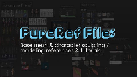 PureRef resource & tutorial collection: Sculpting a humanoid character & base mesh in ZBrush.