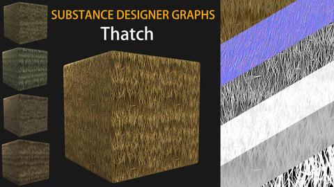 Substance Designer Graphs of Variable Thatch Set
