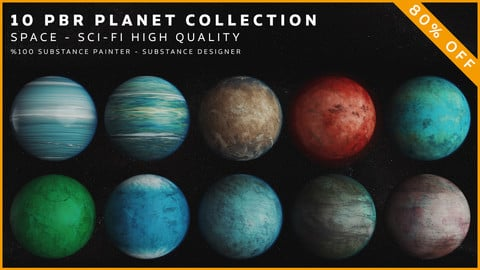 10 PBR Planet Collection
