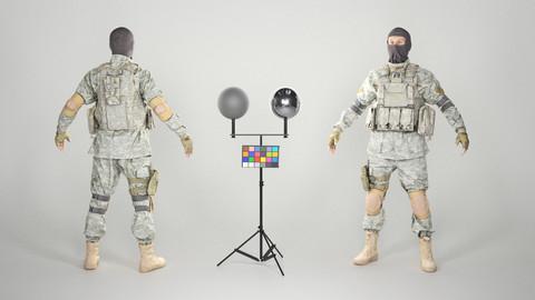 Military man in balaclava 130