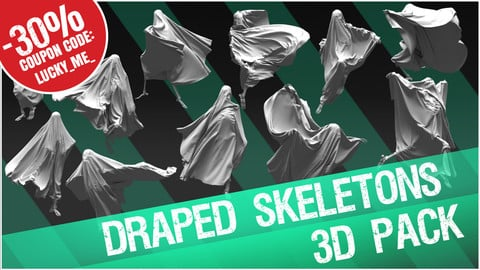 3D Pack: Draped Skeletons 2 (Cloth + Skeleton)